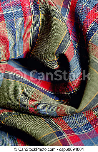 Holiday Plaid Fabric Background - csp60894804