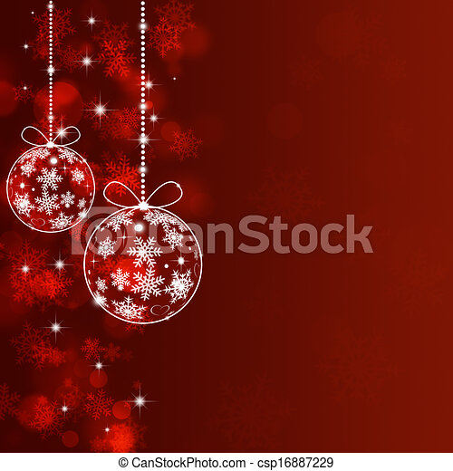 Holiday Red Xmas Greeting Background - csp16887229