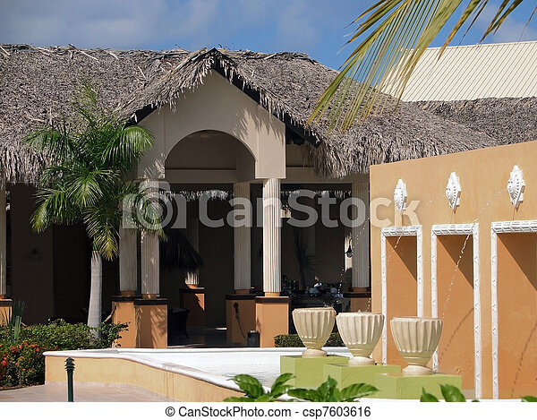 holiday resort at the Dominican Republic - csp7603616