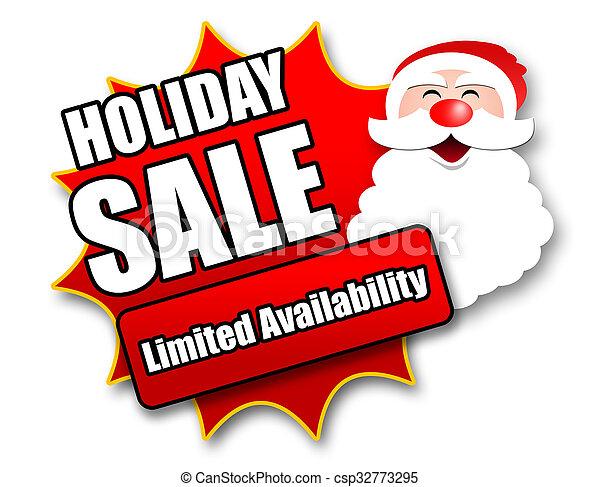 Holiday season promotional sticker csp32773295