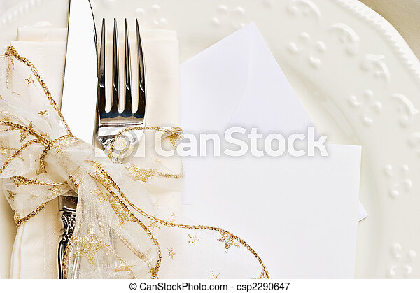 Holiday Table Setting - csp2290647