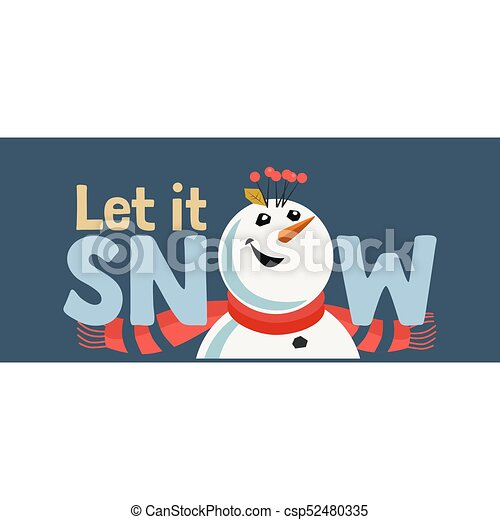 Holiday wishes let it snow fancy letters cartoon playful fun holiday wishes let it snow csp52480335 spiritdancerdesigns Gallery