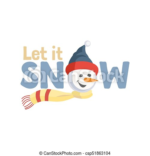 Holiday wishes let it snow fancy letters cartoon playful fun holiday wishes let it snow csp51863104 spiritdancerdesigns Gallery