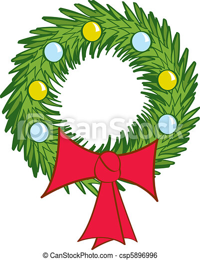 holiday wreath wreath christmas wreath clip art christmas wreath rh canstockphoto com Retro Christmas Clip Art christmas logos clip art free