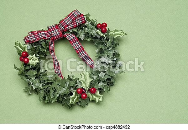 Holiday Wreath - csp4882432