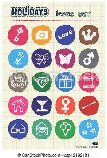 Holidays and celebration web icons  - csp12192181