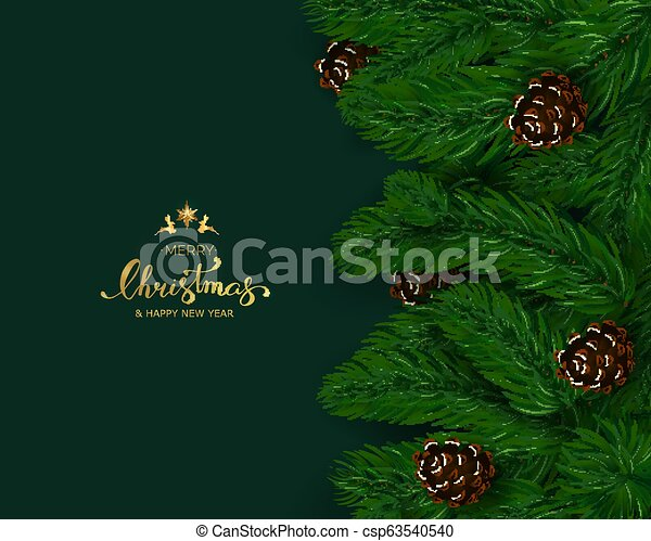 Holiday's Background with Season Wishes and Border of Realistic - csp63540540