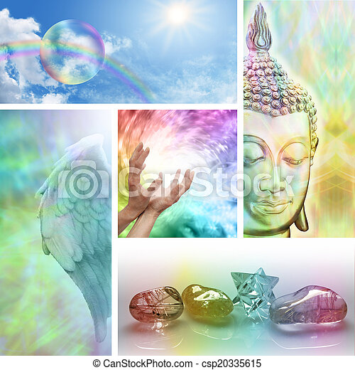 Holistic Healing Collage - csp20335615