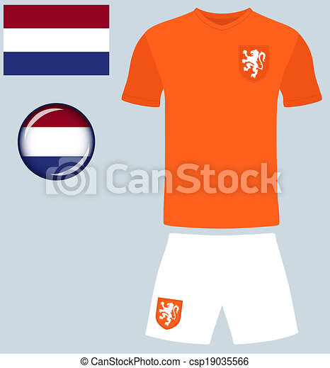 e0d5f8ca4 Holland football jersey. Abstract vector image of the dutch football ...