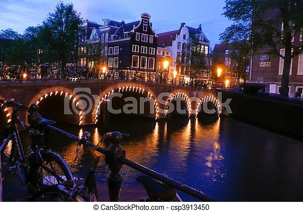 Holland, Netherlands, capital of Amsterdam - csp3913450