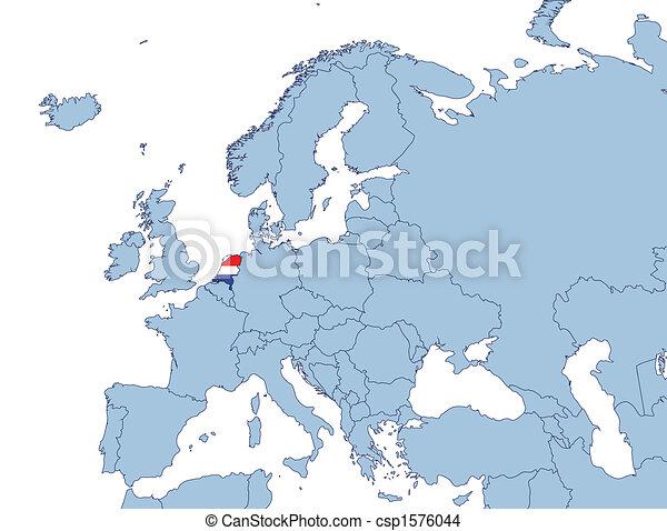 holland karta Holland on europe map illustration drawing   Search Clip Art  holland karta