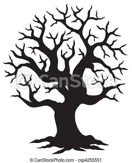 Hollow tree silhouette - csp4255551