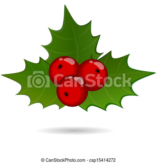 holly berry sprig christmas symbol vectors illustration search rh canstockphoto com holly berry clip art free Holly Berry Clip Art Black and White