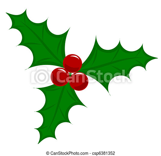 symbolic christmas holly berry vector illustration vector rh canstockphoto com christmas holly berry clipart holly berry clipart