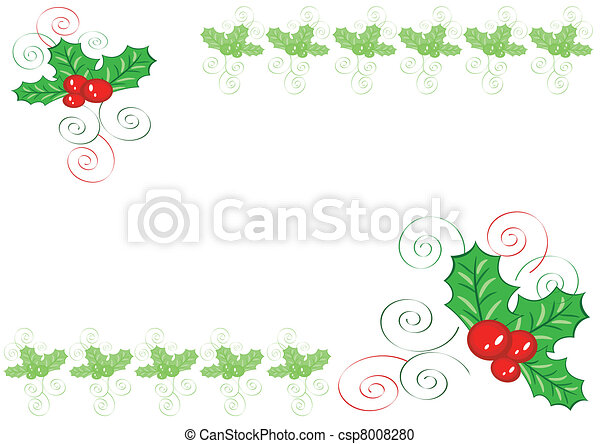 Holly border - csp8008280