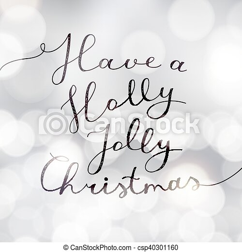 holly jolly christmas - csp40301160