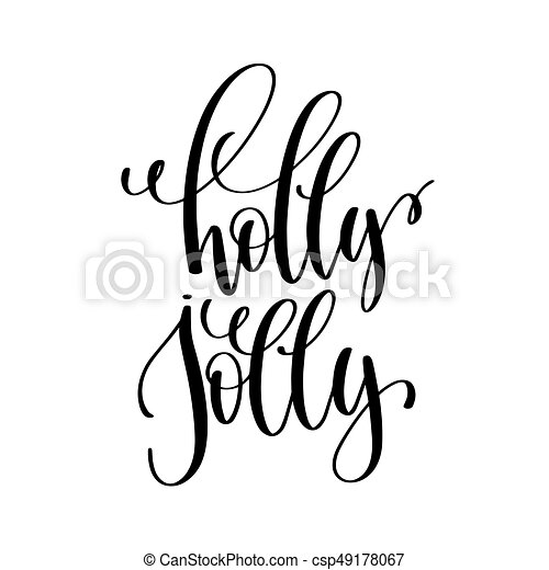 holly jolly hand lettering inscription to winter holiday clip art rh canstockphoto com Pharmacy Clip Art Inscriptions Jewelry Clip Art