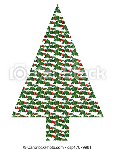 Holly Tree Holly Sprig Christmas Tree Shape