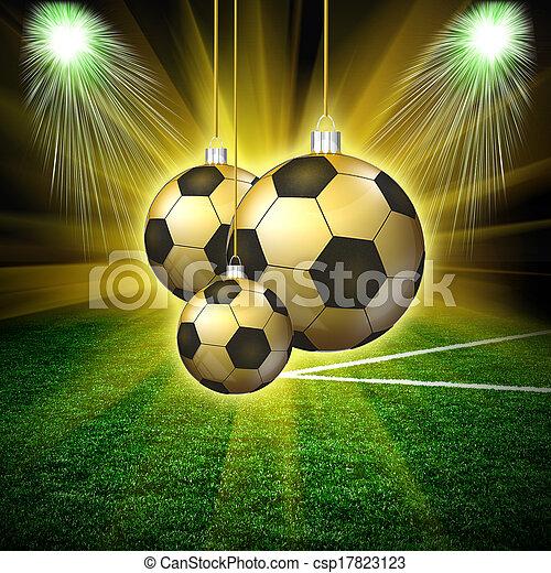 Hollyday Fussball Weihnachten Hintergrund