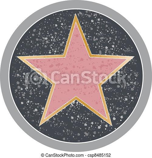 hollywood, étoile - csp8485152