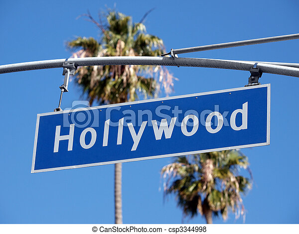 Hollywood Blvd Sign - csp3344998