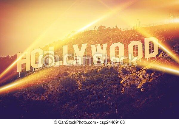 Hollywood California USA - csp24489168