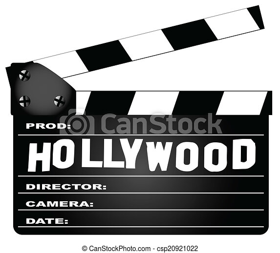 Hollywood Clapperboard - csp20921022