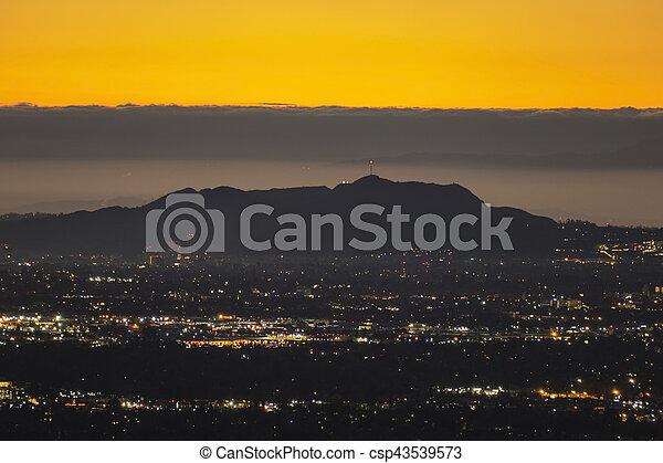 Hollywood Hills Predawn Los Angeles