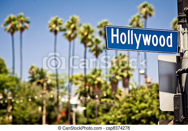 Hollywood sign in LA - csp8374278