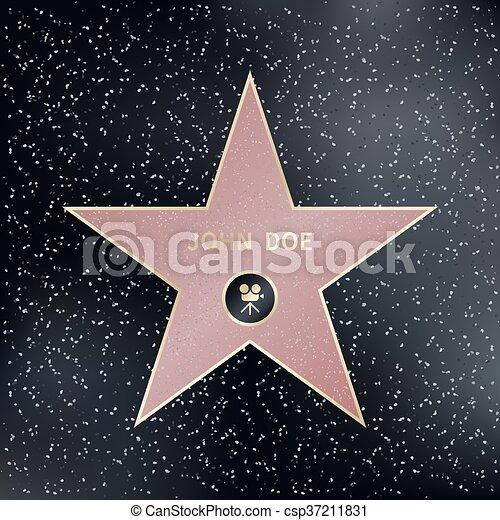 hollywood walk of fame star vector illustration