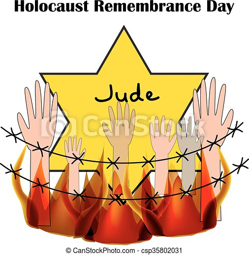 holocaust remembrance day vector illustration on isolated rh canstockphoto com Jew Clip Art holocaust clipart