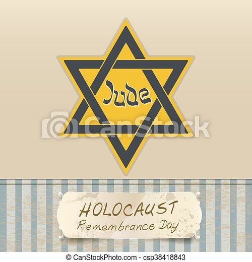 holocaust remembrance day with Star of David - csp38418843