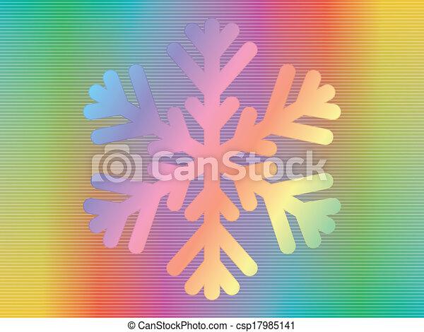 hologramme, flocon de neige - csp17985141