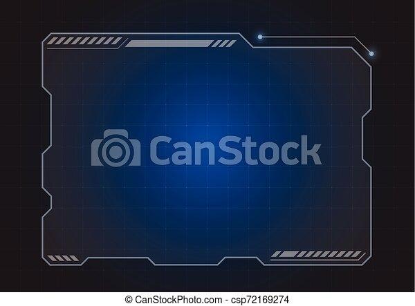 hologramme, futuriste, moniteur - csp72169274