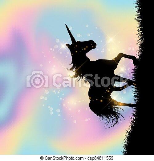 hologramme, gradient, licorne, fond, 2208, themed - csp84811553