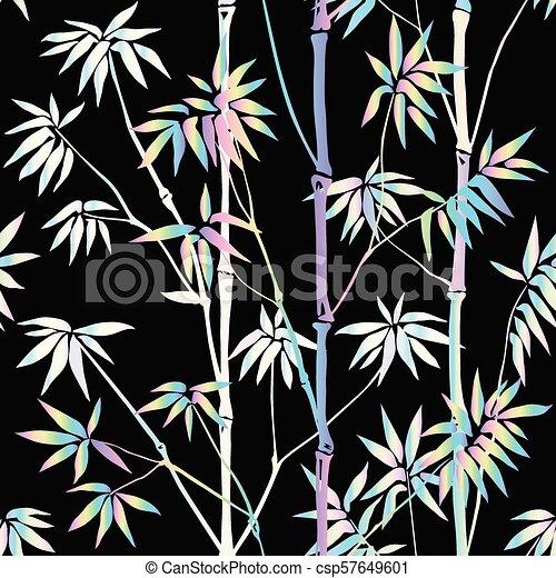 Holographic Bamboo Seamless Pattern