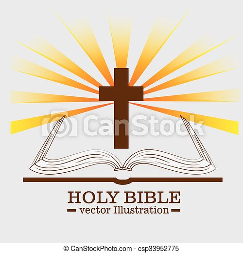 Holy bible book - csp33952775