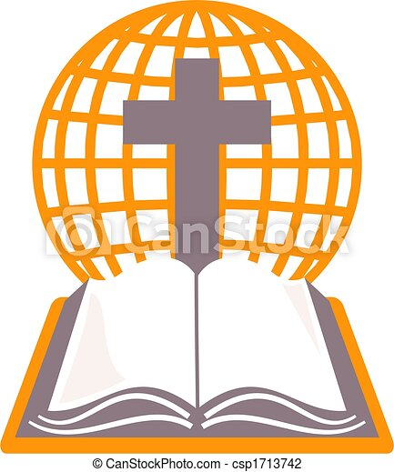 holy bible holy bible cross and grid globe representing the world
