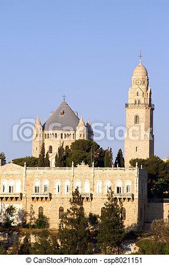 Holy church in Jerusalem - csp8021151