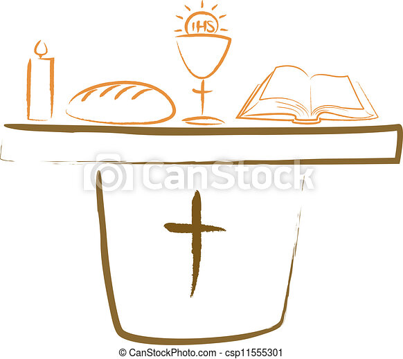 holy communion - altar and religiou - csp11555301