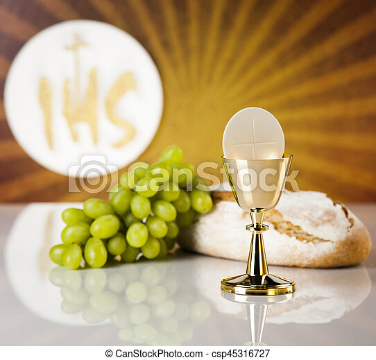 Holy Communion Bread Wine For Christianity Religion Holy Communion