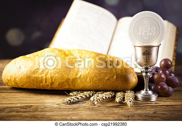 Holy Communion Bread Wine