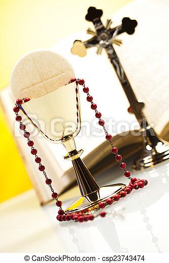 Holy communion  - csp23743474