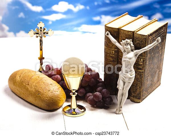Holy communion  - csp23743772