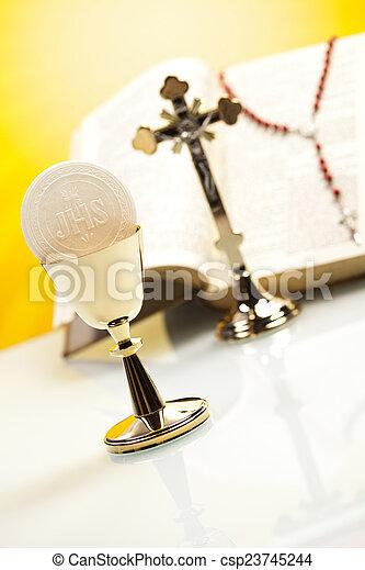 Holy communion  - csp23745244