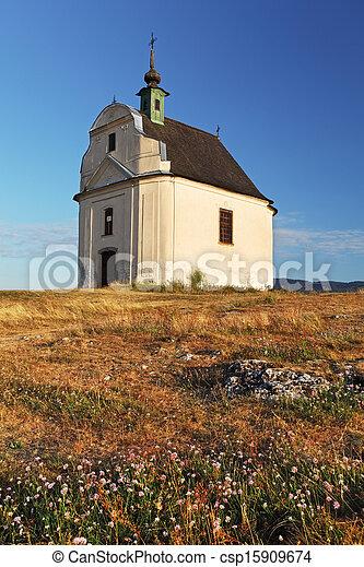 Holy cross baroque chapel on the hill Siva brada - Spis - csp15909674