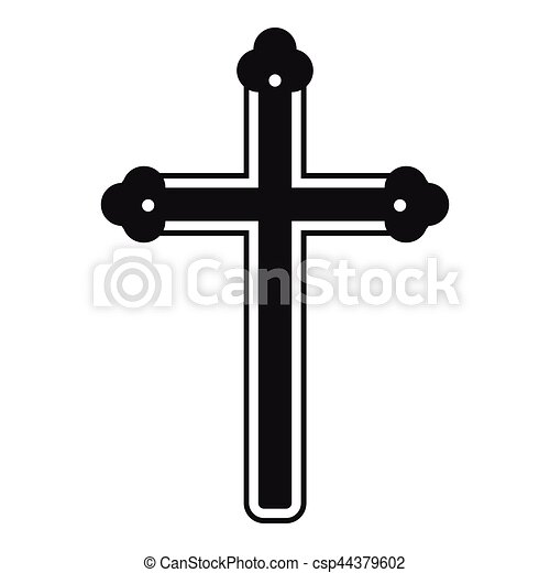 Holy cross icon , simple style - csp44379602