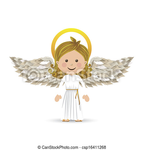 holy guardian angel over white background vector illustration rh canstockphoto com Angel Wings Clip Art Male Angel Clip Art