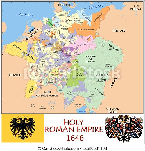 Holy roman empire divisions Administrative divisions map vector