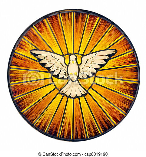 Holy Spirit Stained Glass - csp8019190